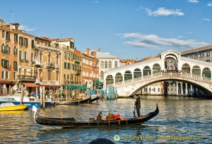 Gondola ride on the Grand Canal
