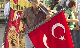 Bearing the Turkish Flag