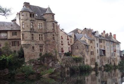 The marvellous town of Espalion on the Lot River, France