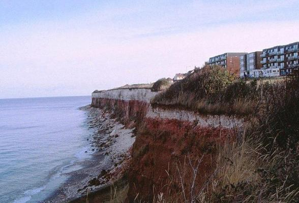 The red cliffs at Hunstanton