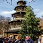 A Munich Christmas Market at the Chinese Tower