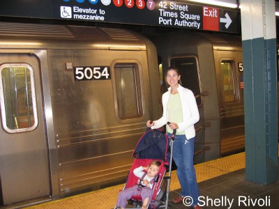 New York subway with stroller