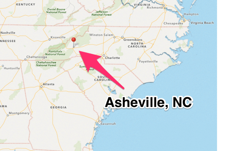 map of asheville nc and surrounding areas