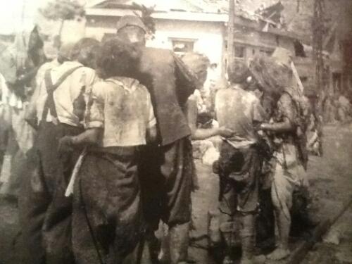 A-bomb survivors in 1945