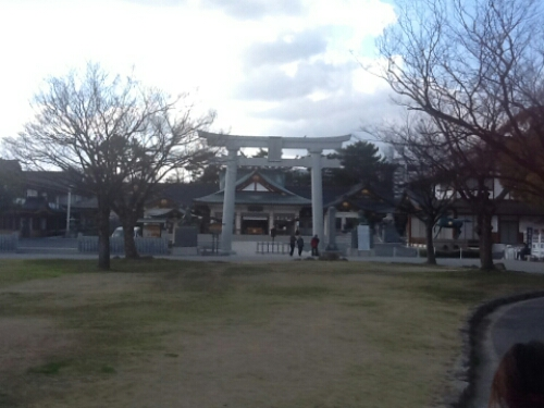 A shrine outside Hiroshima Castle