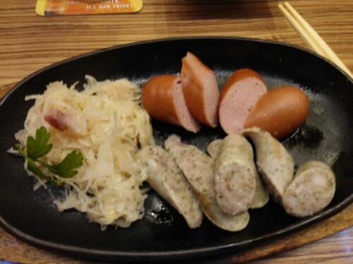 Sausages at Lorelei