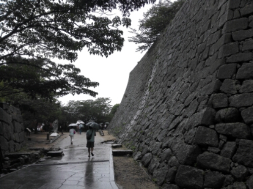 The Walls of Matsuyama Castle