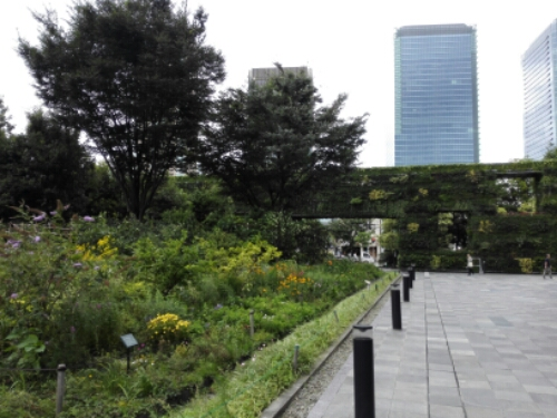 Garden outside Umeda Sky Building