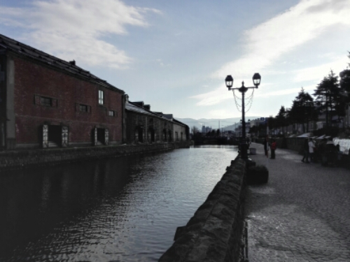 The famous canal in Otaru