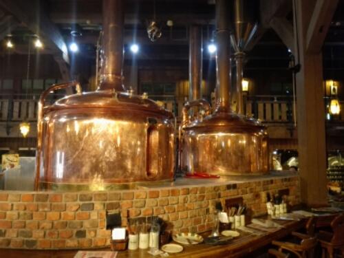 Vats with Otaru Beer