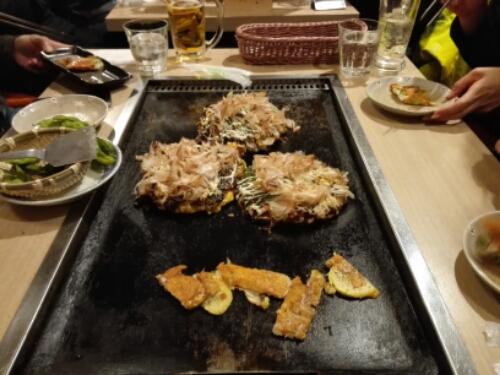 Okonomiyaki in Niseko