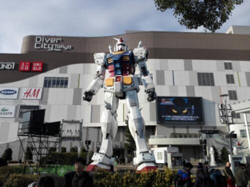 The Gundam in Odaiba