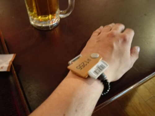 Pay with wristband at Oedo Onsen