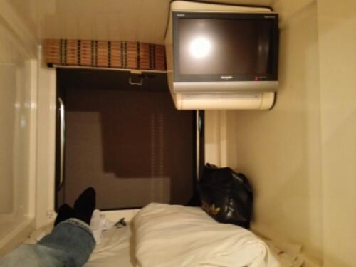 My capsule hotel in Sapporo