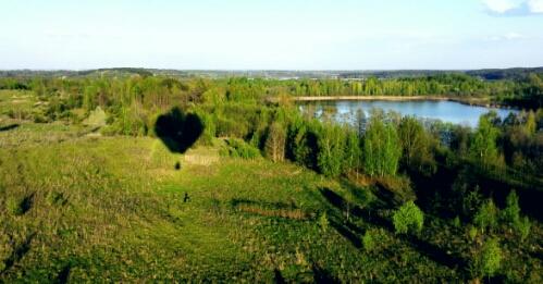 Hot air balloon ride over Trakai, Lithuania