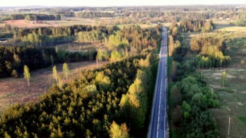 Hot air balloon over Lithuania