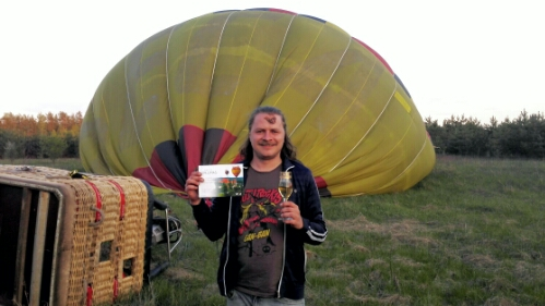 Hot air balloon ride in Lithuania
