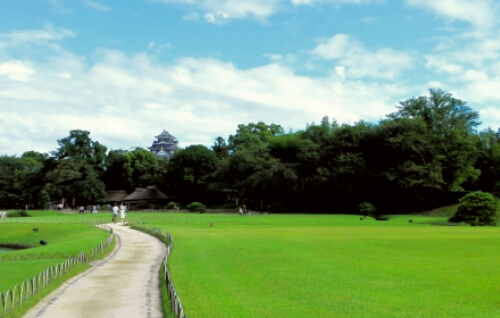 View of Okayama Castle from Koraku Park