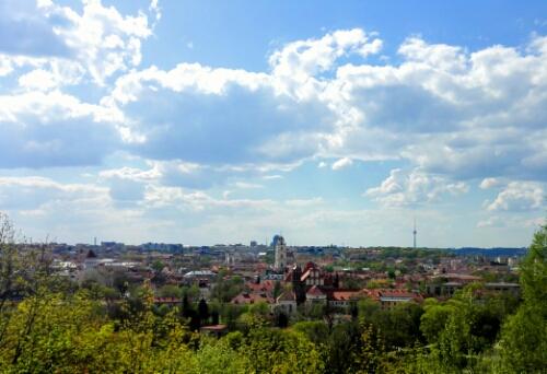 Vilnius seen from Uzupis
