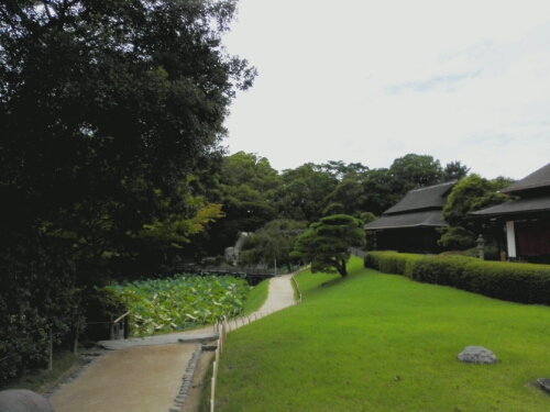 The path to the stone at Koraku Garden