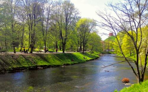 Vilnia river in Vilnius