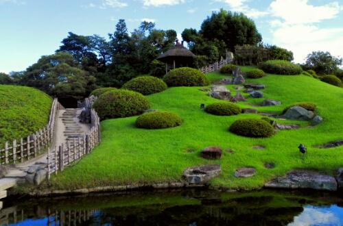 The hill at Koraku Park