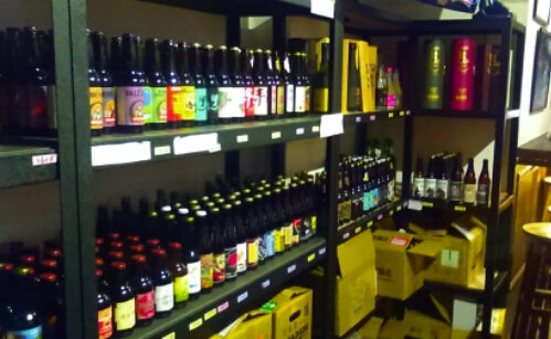 The beers at the 58 Bar