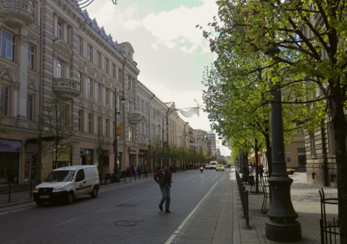 The main street in Vilnius