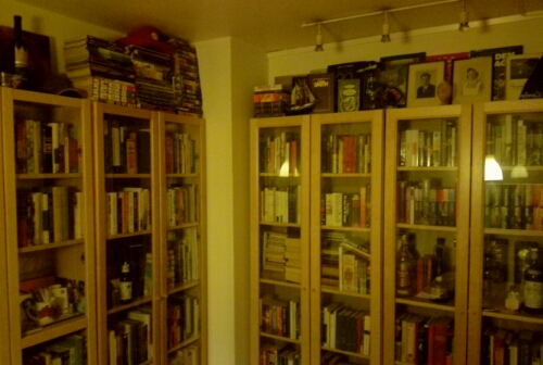 My collection of books before I moved to Stockholm, Sweden