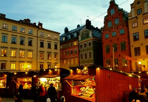A Christmas Market in Gamla Stan, Stockholm