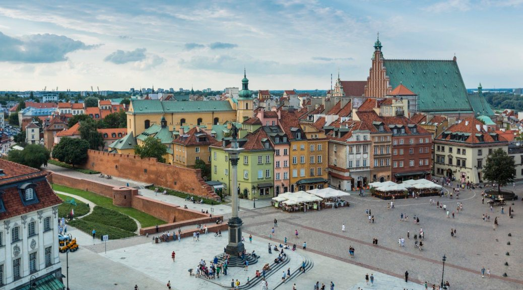 A Bird's Eye View of Old Town Warsaw