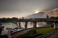 The River Kwai and it's famous bridge