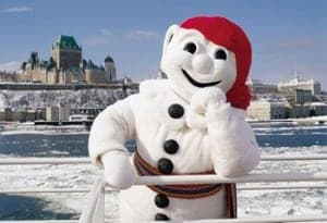 Bonhomme at the Carnaval de Québec
