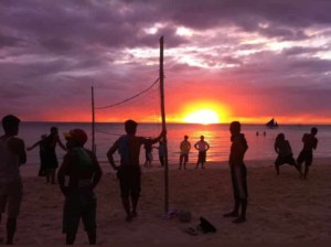 sunset beach football philippines
