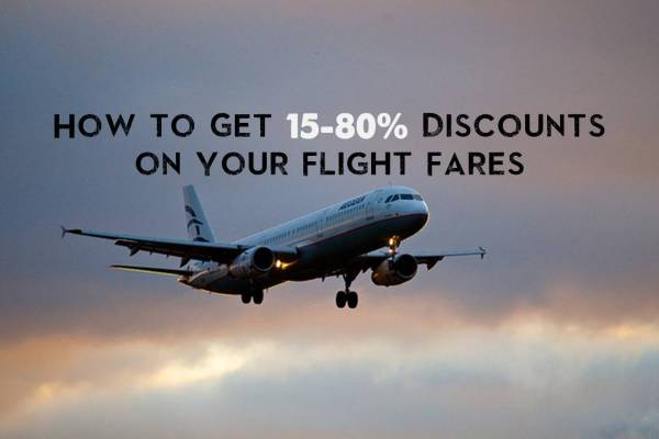 How to Get 15-80% Discounts on Your Flight Fares