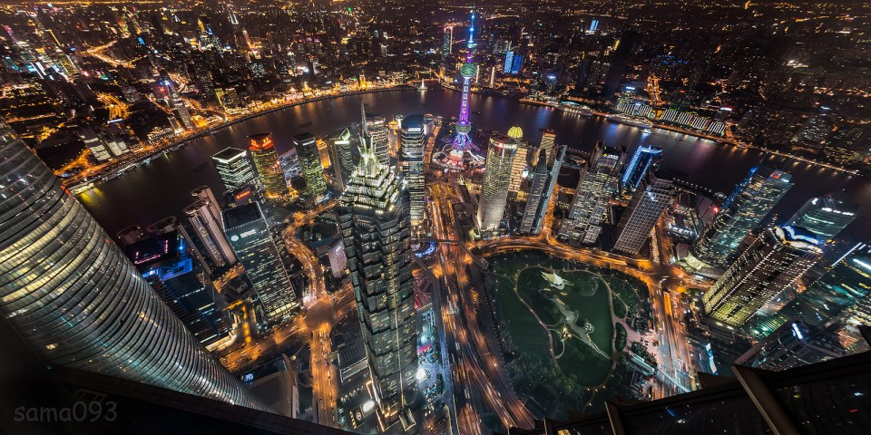 Shanghai from an amazing angle