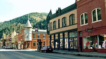 Town of Wallace in Northern Idaho