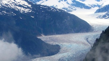 Dog Sledding on an Alaskan Glacier