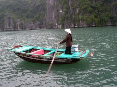Halong Bay boatwoman