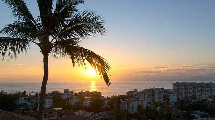 Sunset view from Vista Grill Restaurant, Puerto Vallarta