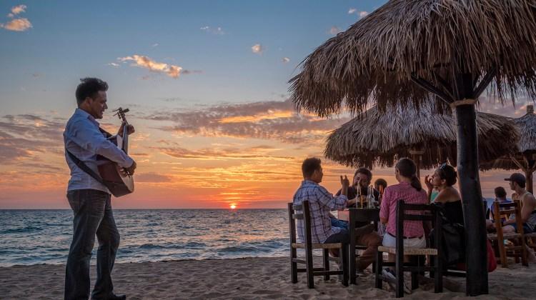 Sunset at Playa Los Muertos in Puerto Vallarta, Jalisco, Mexico.