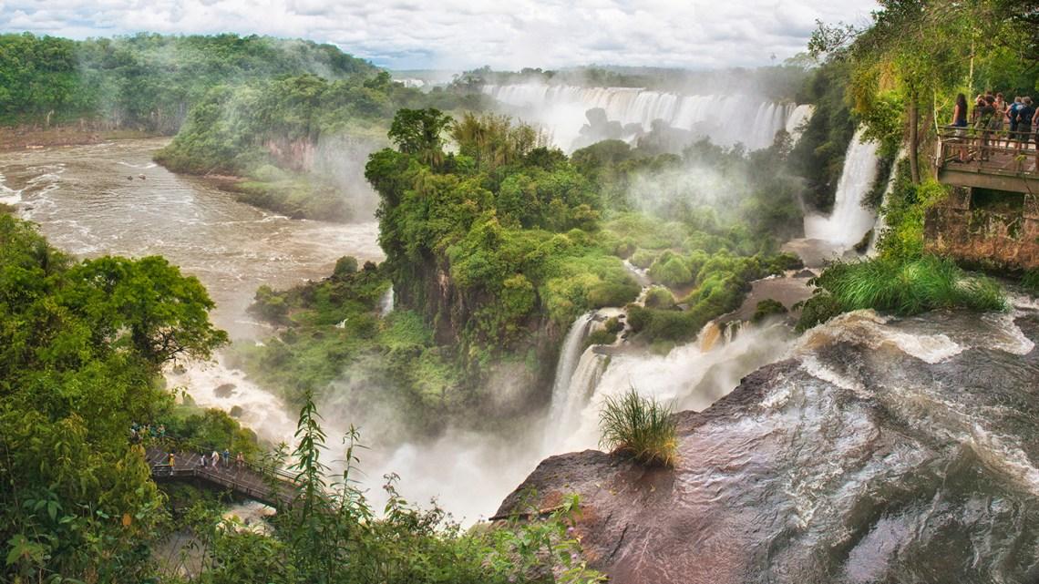 Sweeping panorama at Iguazu National Park