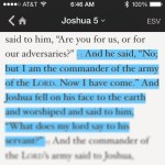 God is not joining what Joshua is doing. Joshua is joining what God is doing. Huge difference!