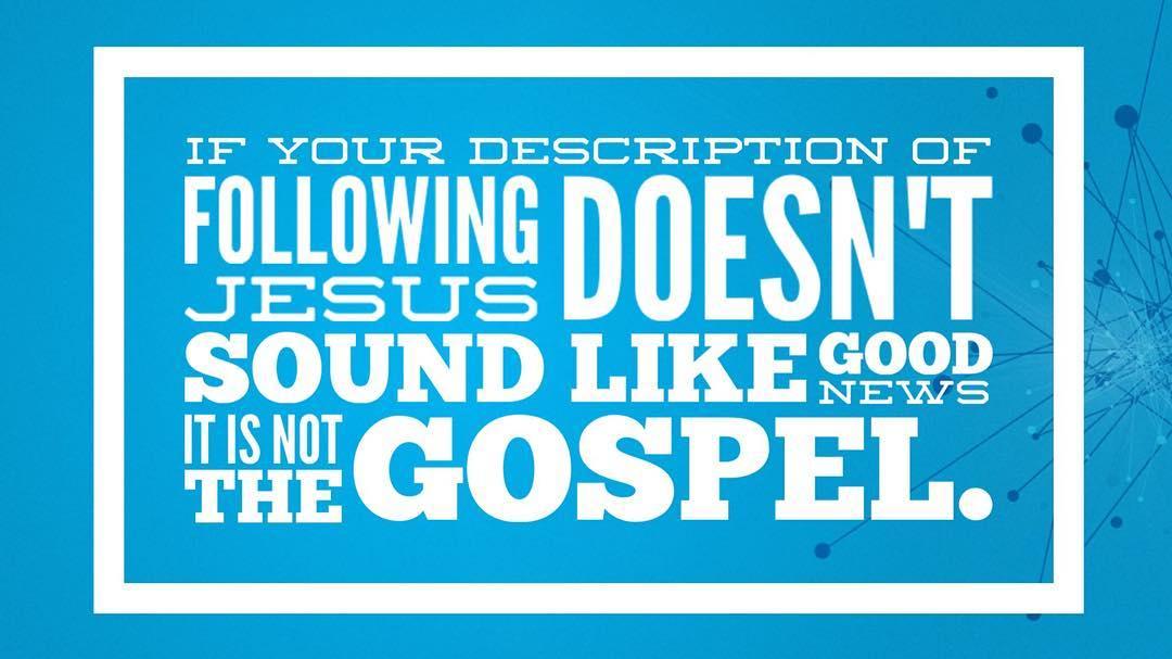 If it doesn't sound like good news, then it isn't good news. #csufuge16 #unashamed