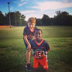 So proud of how hard my boys played in their first flag football game tonight!