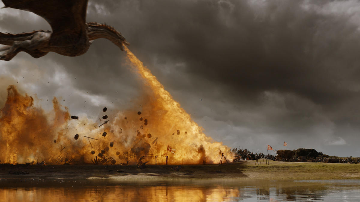 all the details behind that game of thrones insane dragon assault in the loot train attack la times