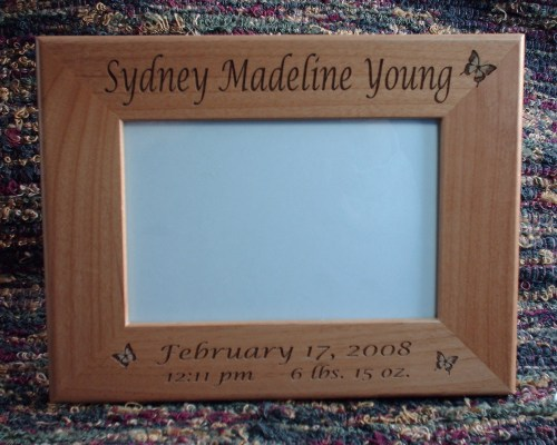 Medium Of Engraved Picture Frames