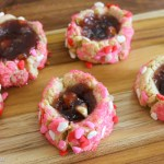 Chocolate and Strawberry Thumbprint cookies4