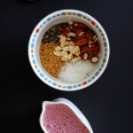 Strawberry Almond Milk Soaked Muesli