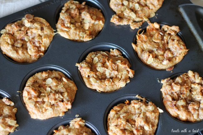 Carrot Almond Muffins (treatswithatwist.com)